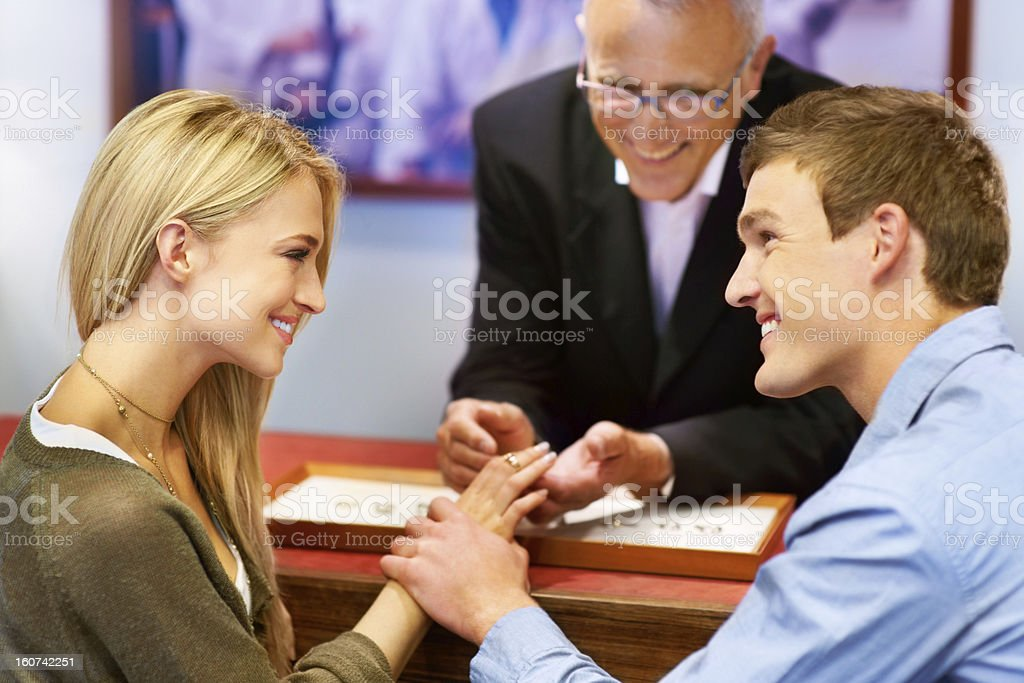 This ring will signify our eternal love stock photo