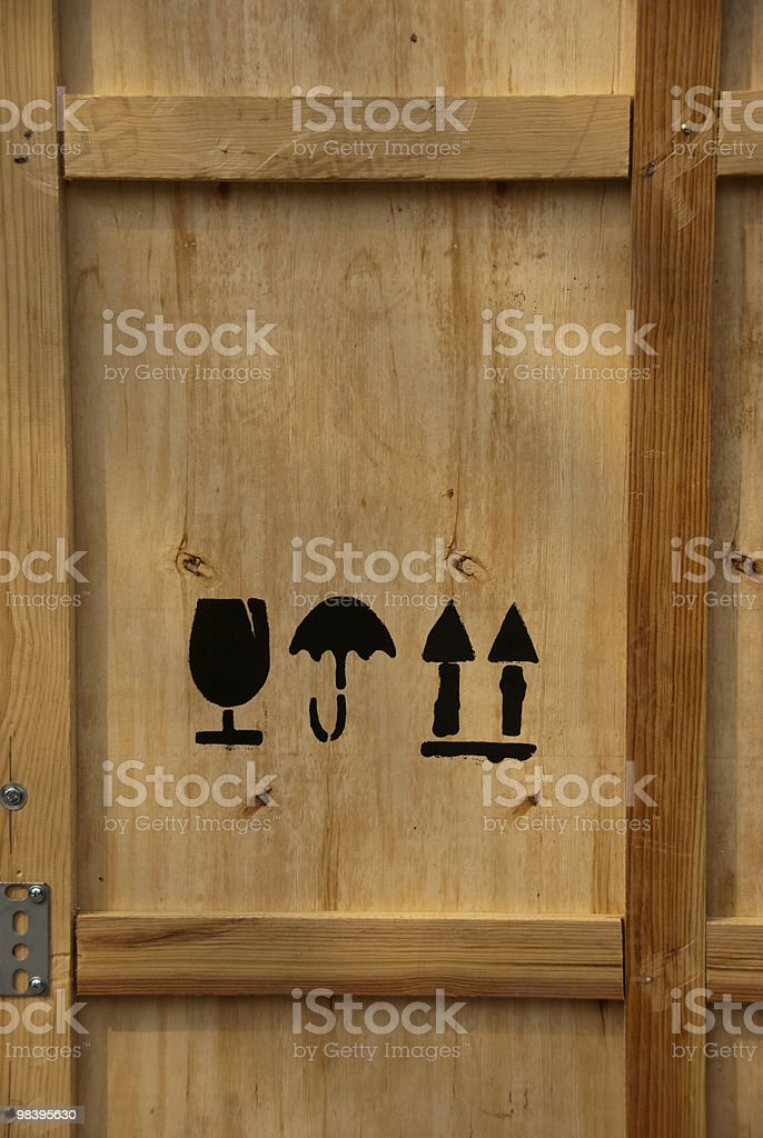 This Side Up Storage Crate royalty-free stock photo