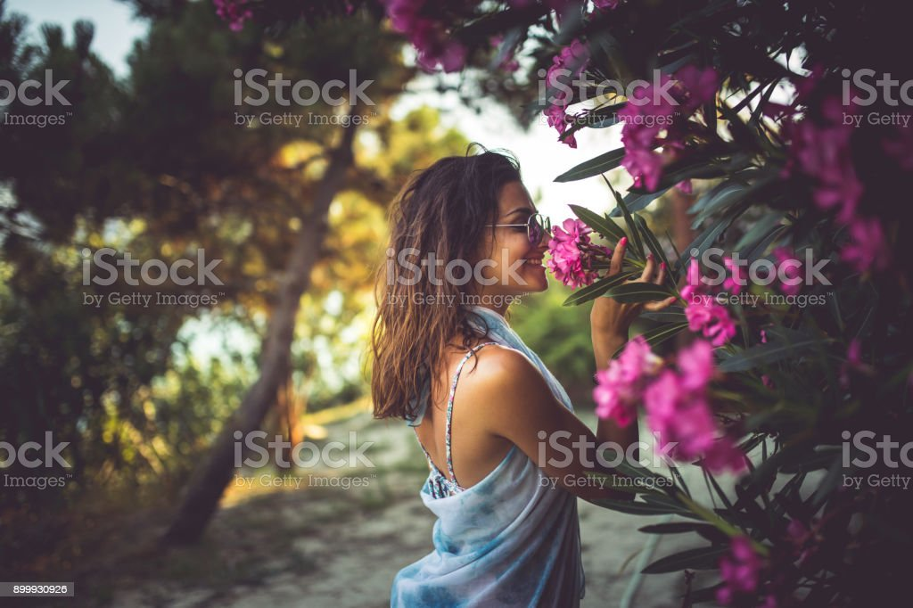 This smells nice stock photo