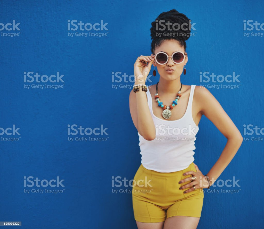 This summer, just call me Miss Cool stock photo
