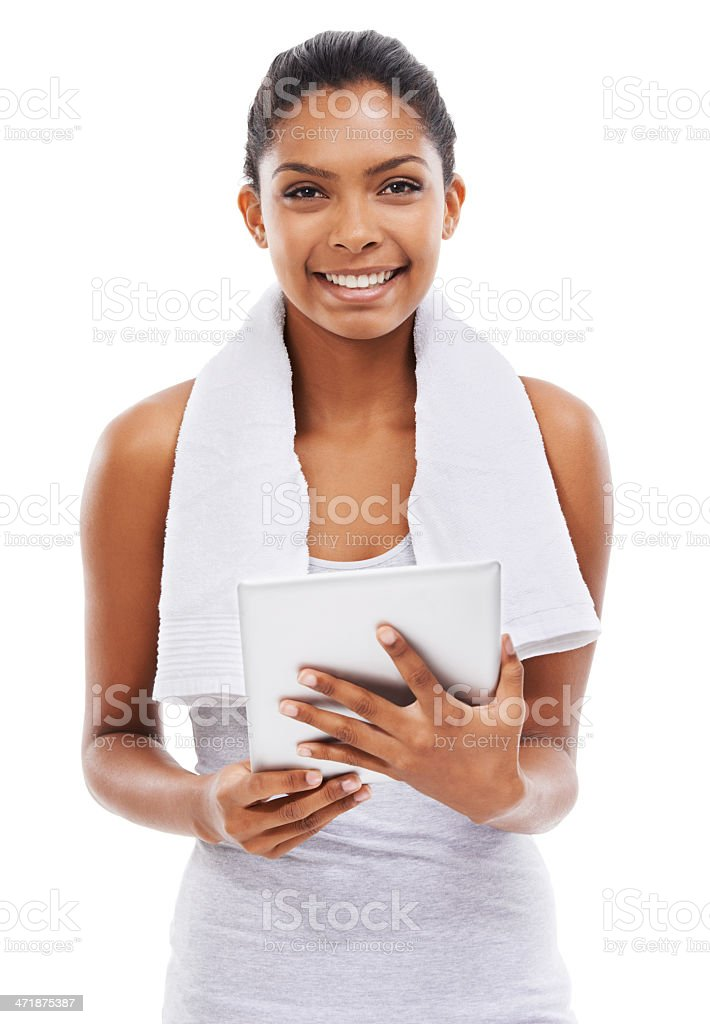 This tablet is so cool! royalty-free stock photo