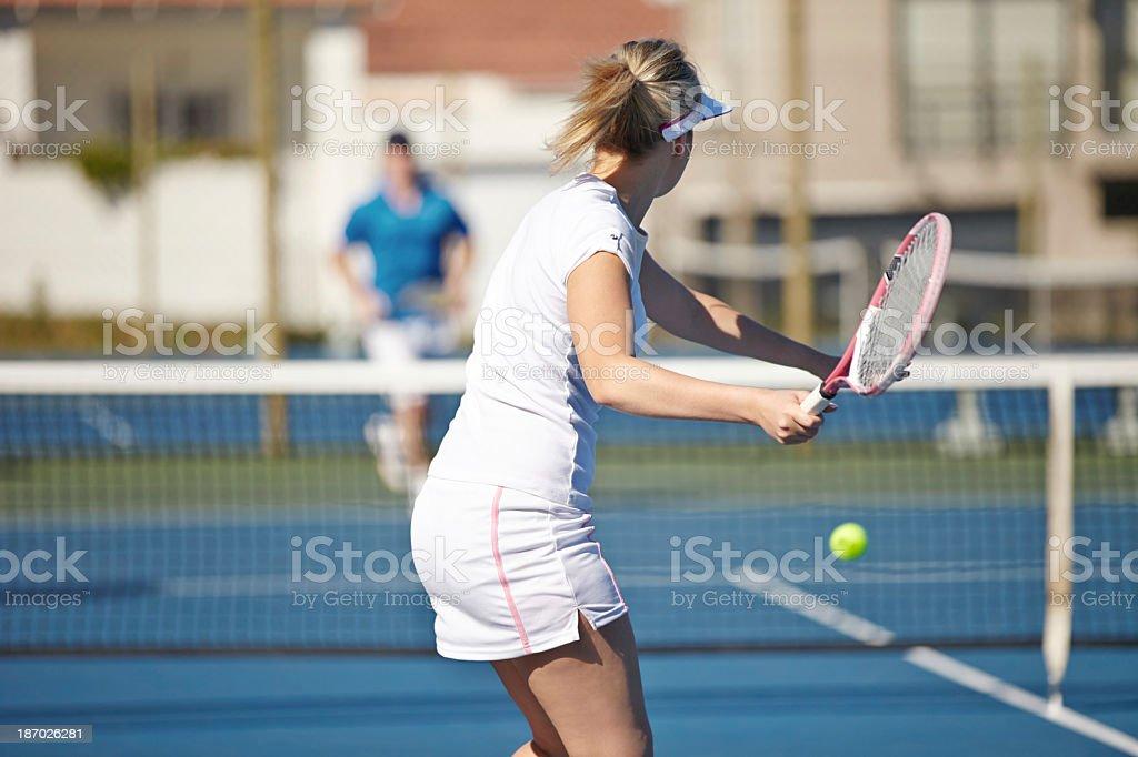 This takes talent! stock photo