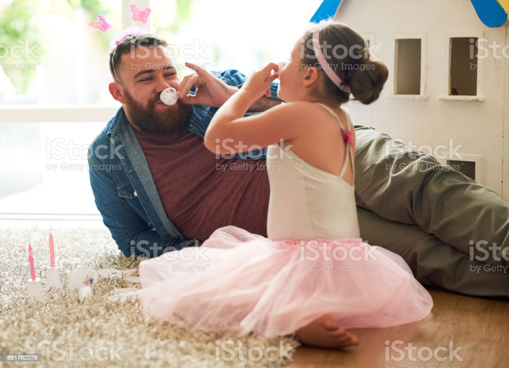 This tea is divine, darling stock photo