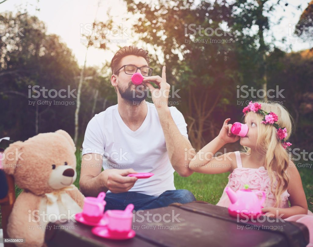 This tea is great stock photo