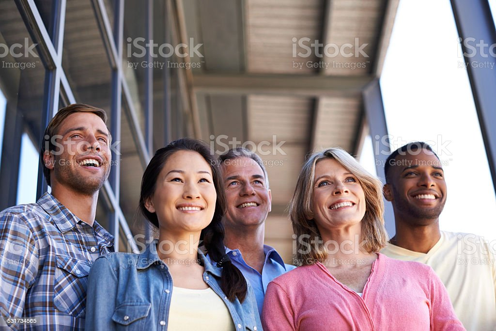 This team is focussed on success stock photo