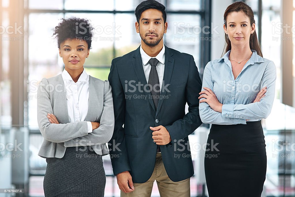 This team is willing to go above and beyond expectations stock photo