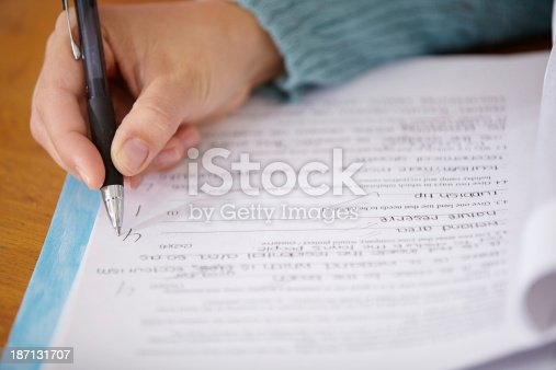 istock This test will get a good grade 187131707