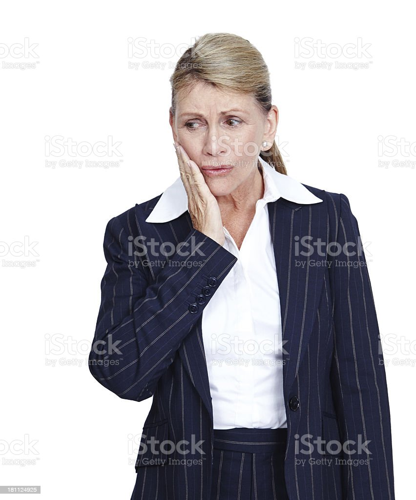 This toothache is ruining my day royalty-free stock photo