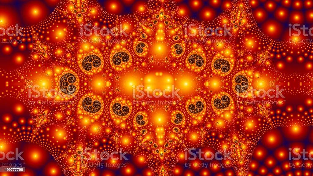 Christmas lights decoration based on fractal tree of life stock photo