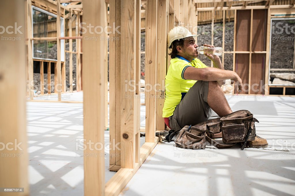 This was hard working day stock photo