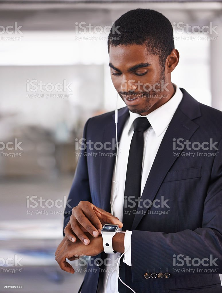This watch is amazing! stock photo
