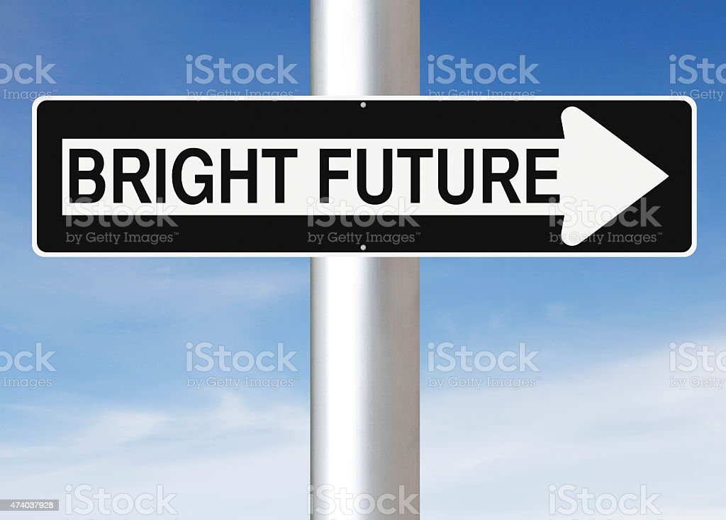 This Way To A Bright Future stock photo