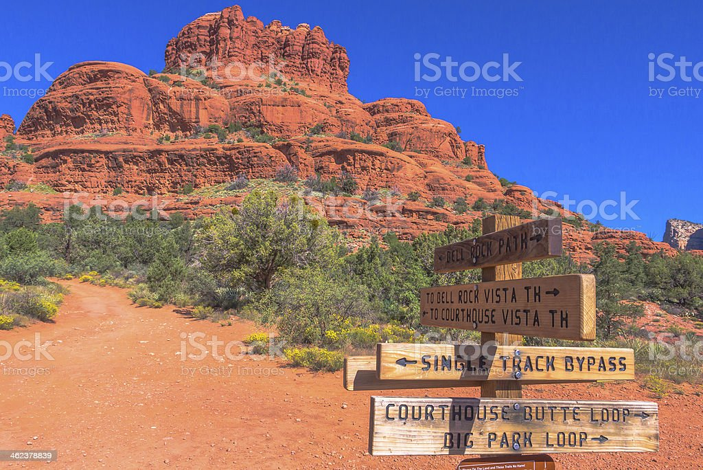 This Way To Bell Rock stock photo
