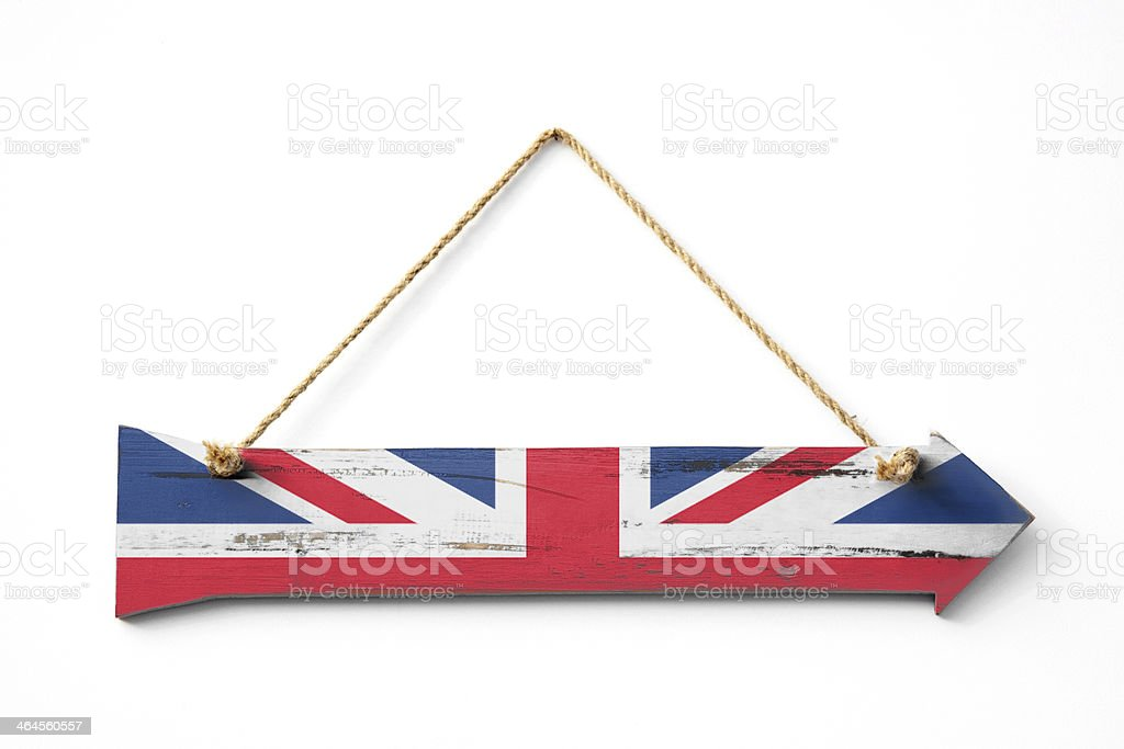 This way to Britain royalty-free stock photo