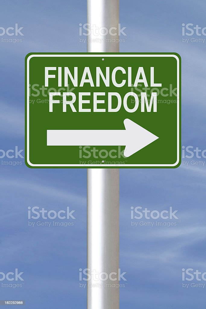 This Way to Financial Freedom royalty-free stock photo