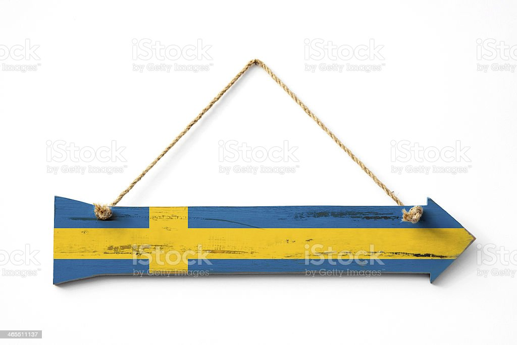 This way to Sweden royalty-free stock photo