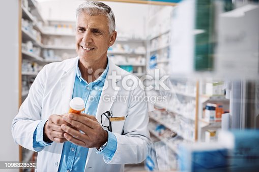 Shot of a pharmacist working in a drugstore