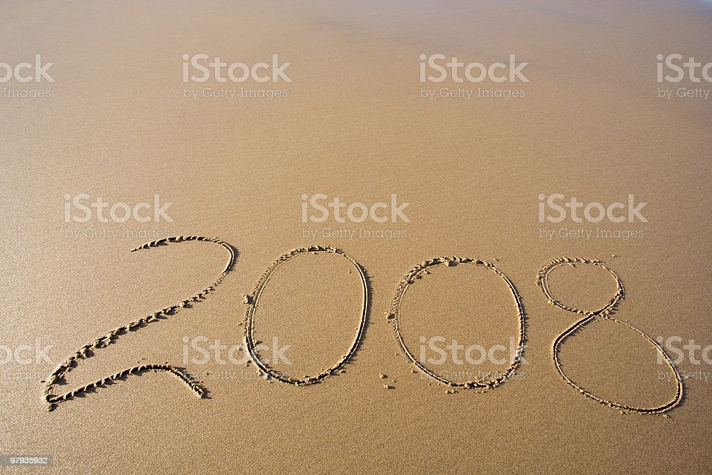 This year 2008 royalty-free stock photo