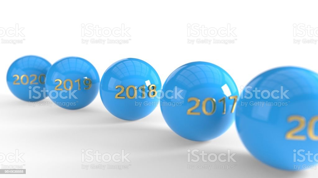 This year and next year are, 3d rendering royalty-free stock photo