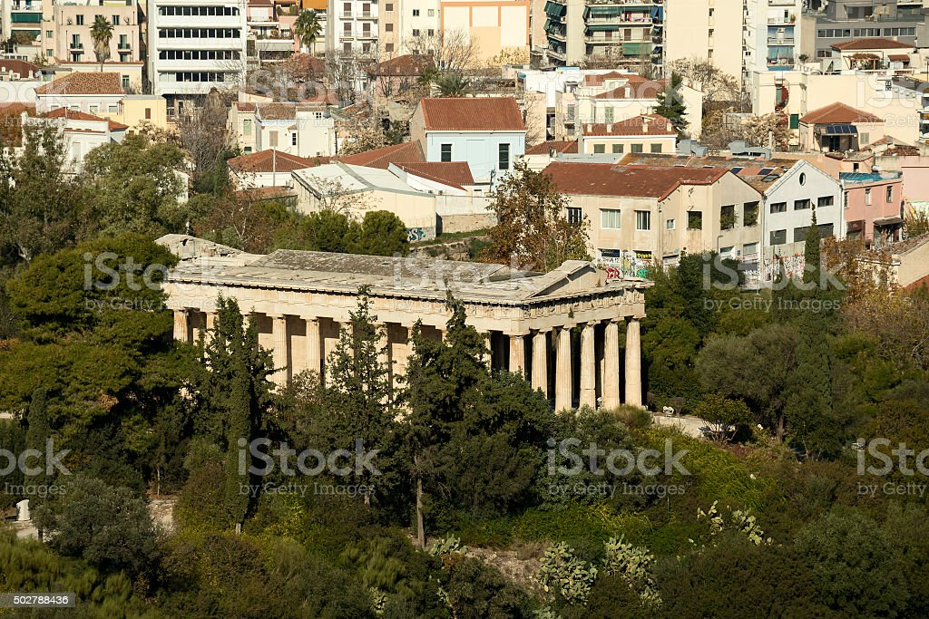 Thissio, Athens stock photo
