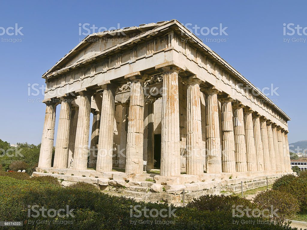 Thission temple in Athens stock photo