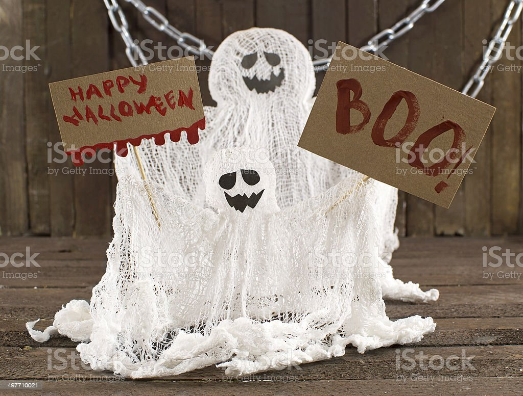 Tho funny ghosts stock photo