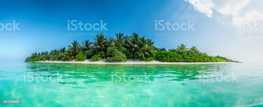 Thoddoo island panorama stock photo