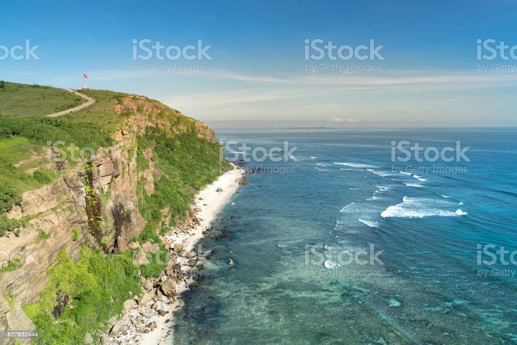 Thoi Loi Mountain on Ly Son island stock photo