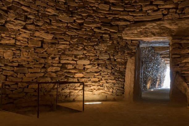 Tholos de El Romeral, Spain Antequera, Spain - July 10th, 2018: Tholos de El Romeral, main chamber.  Antequera, Malaga, Spain portal dolmen stock pictures, royalty-free photos & images