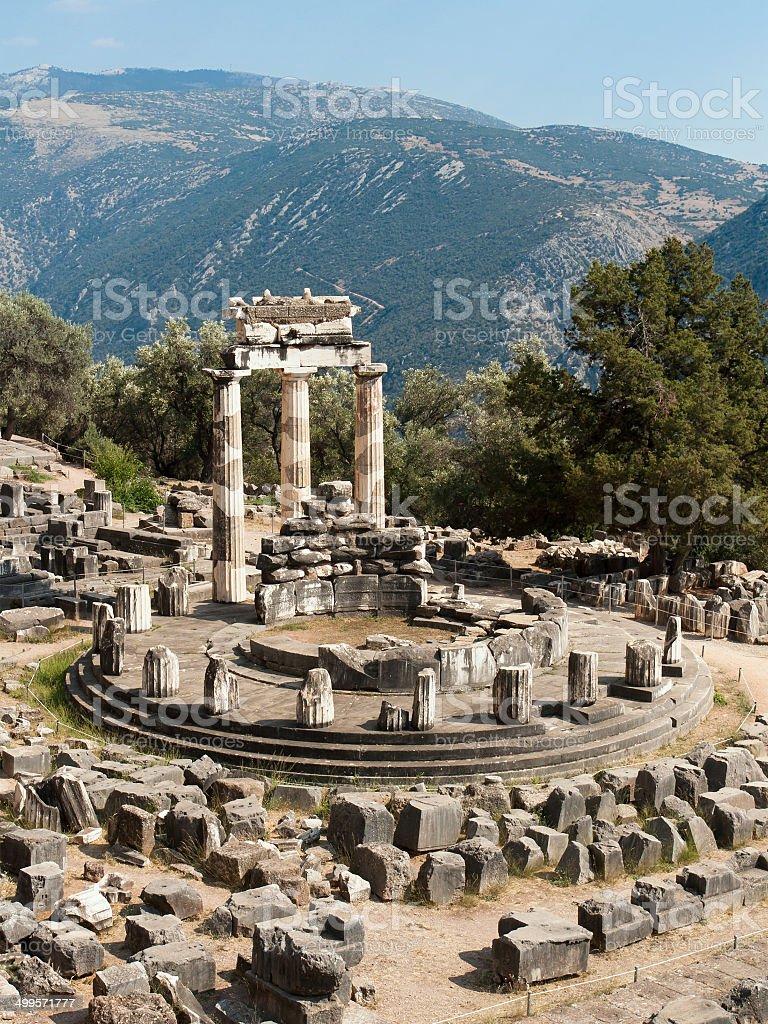 Tholos Temple of Delphi stock photo