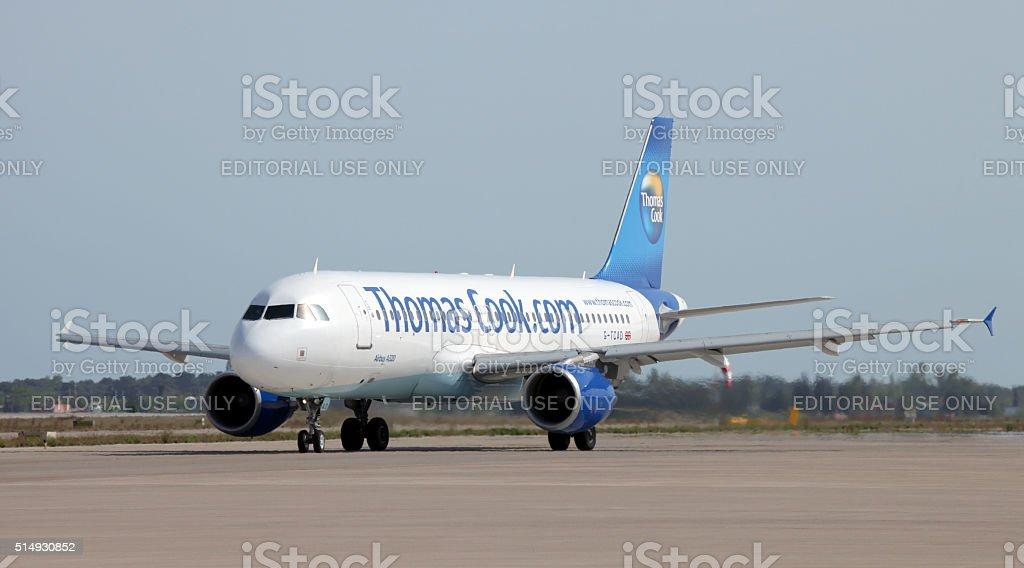 Томас Кук авиалинии Стоковые фото Стоковая фотография