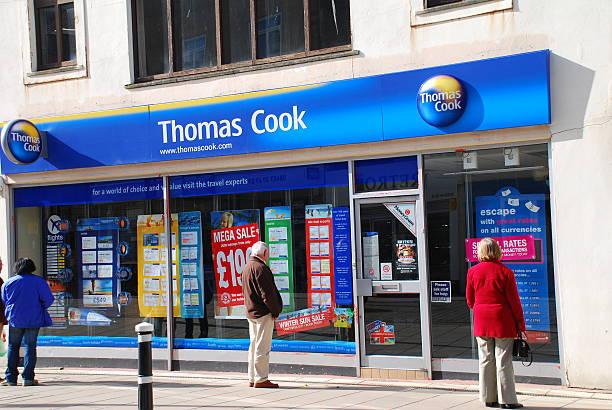 Thomas Cook travel agent, England stock photo