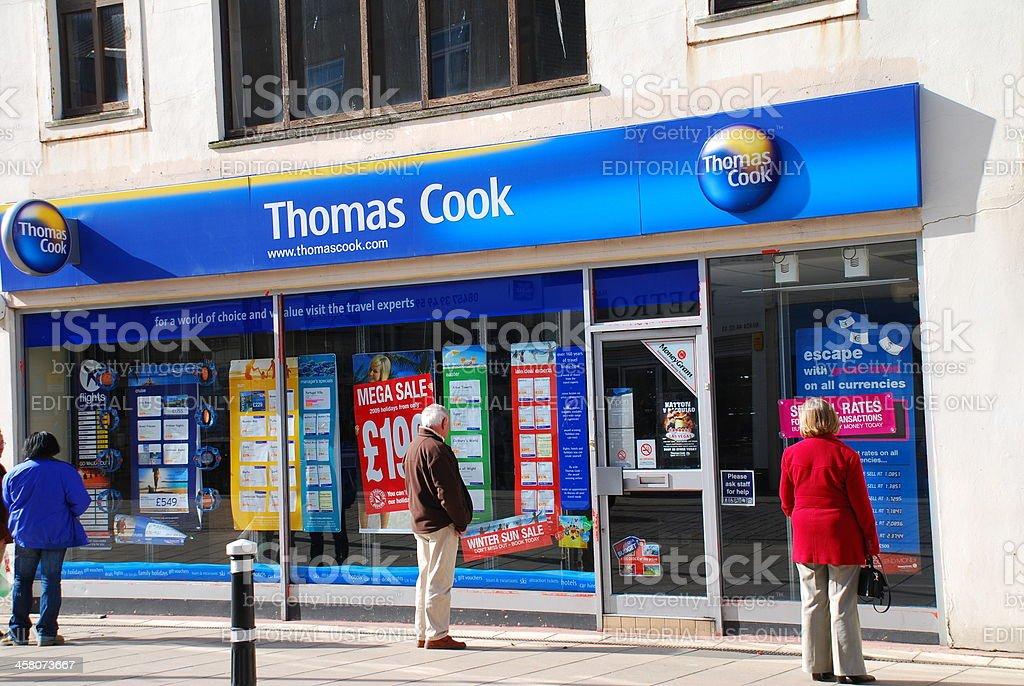 Thomas Cook agente de viagens, Inglaterra - foto de acervo