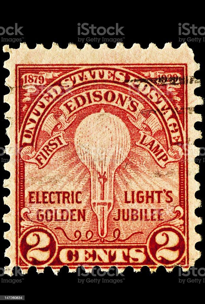 Thomas Edison Electric Light Issue royalty-free stock photo