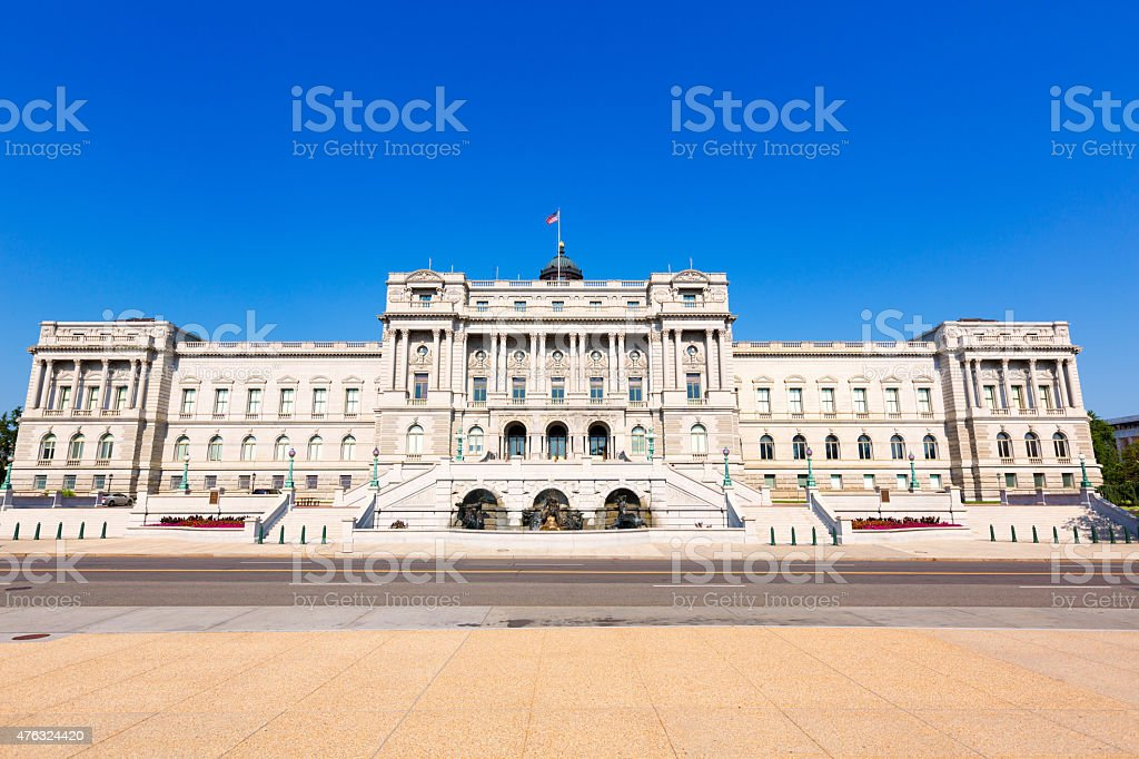 Thomas Jefferson Library of Congress Washington stock photo