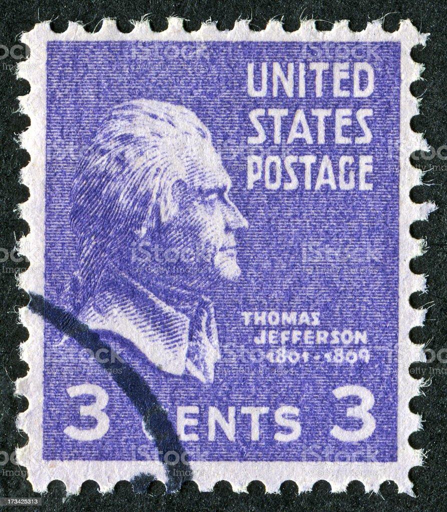 Thomas Jefferson Stamp royalty-free stock photo