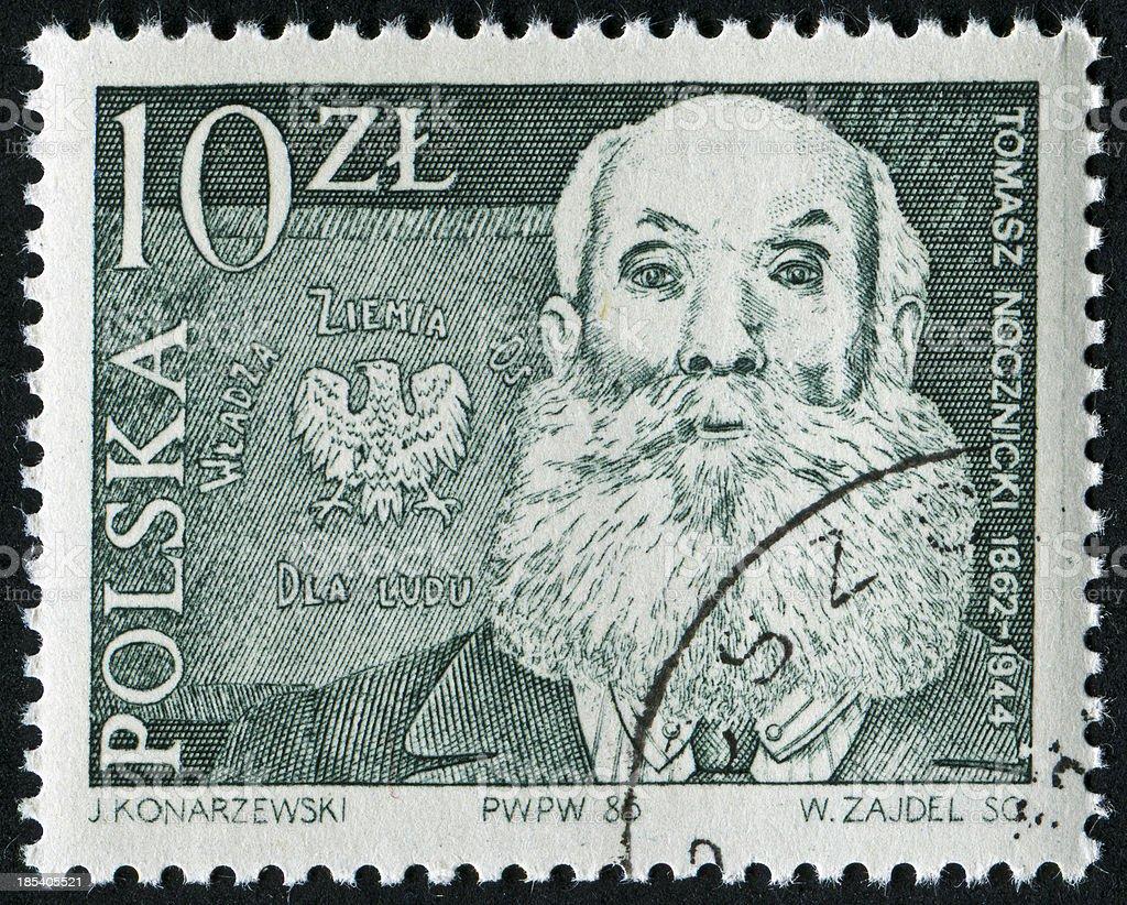 Thomas Nocznicki Stamp stock photo