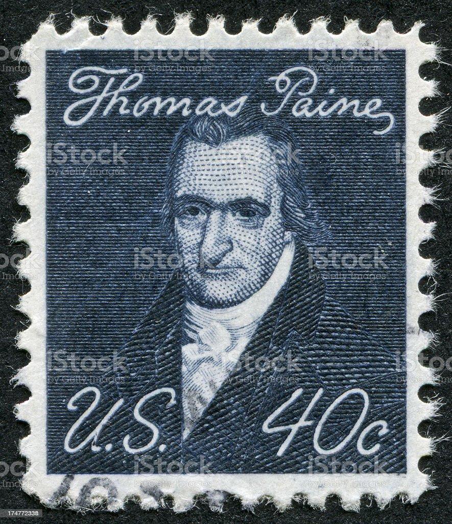 Thomas Paine Stamp stock photo