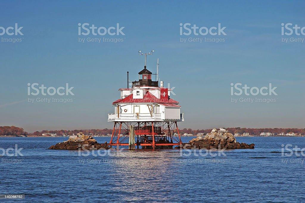 Thomas Point Light stock photo