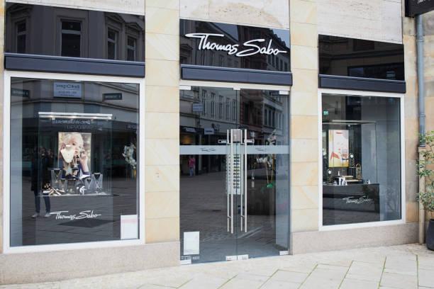 Thomas Sabo shop entrance in Wiesbaden, Germany stock photo
