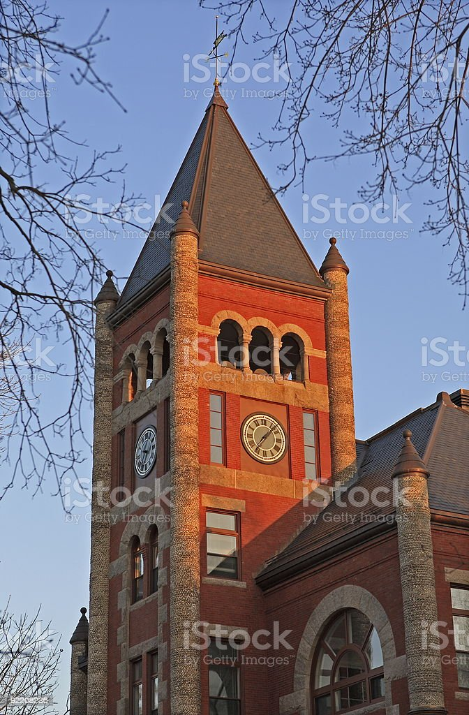 Thompson Hall -University of  New Hampshire royalty-free stock photo