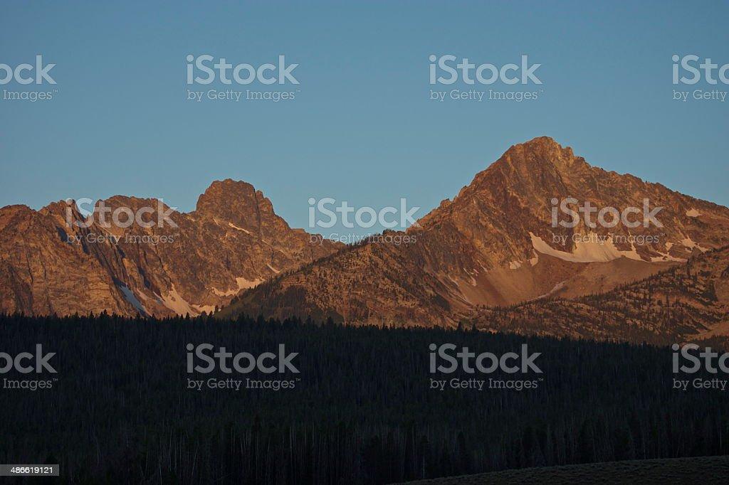 Thompson Peak Sunrise royalty-free stock photo