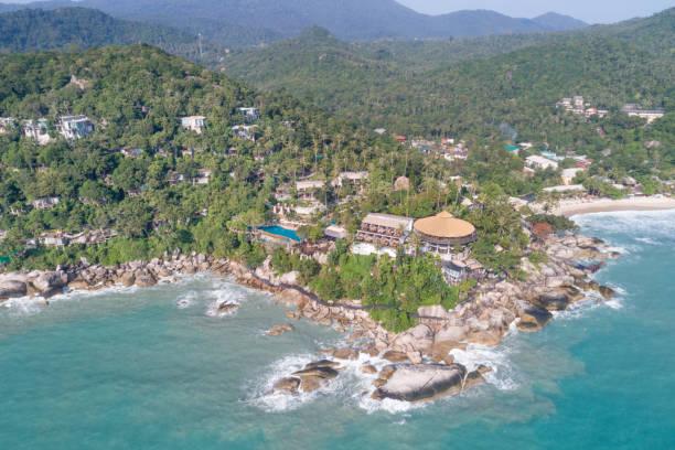 thong nai pan peninsula, koh phangan, thailand - ferienhaus thailand stock-fotos und bilder