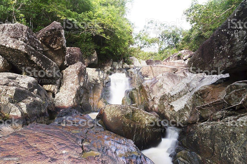 Thong Nang waterfall, Koh Phagnan royalty-free stock photo