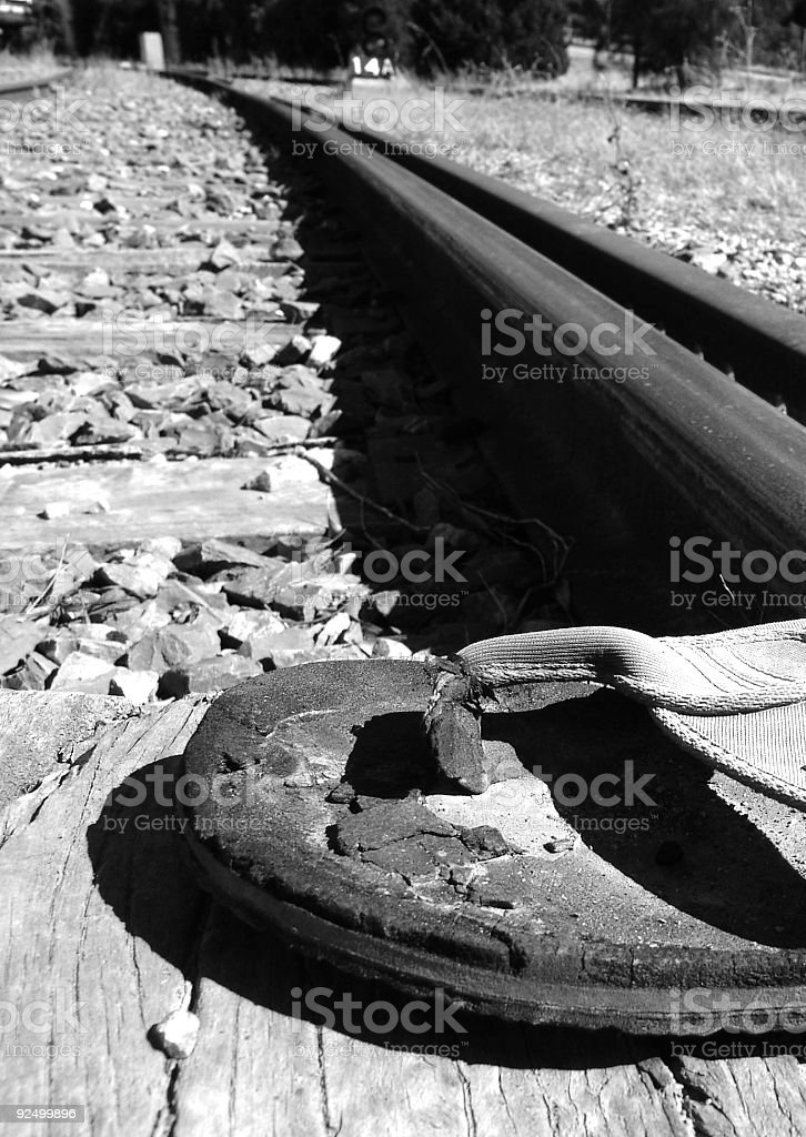 Thong on Track royalty-free stock photo