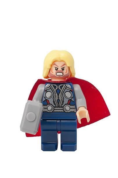 Thor minifiguras de Lego de - foto de stock