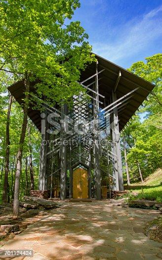 istock Thorncrown Chapel, Springtime 701124424