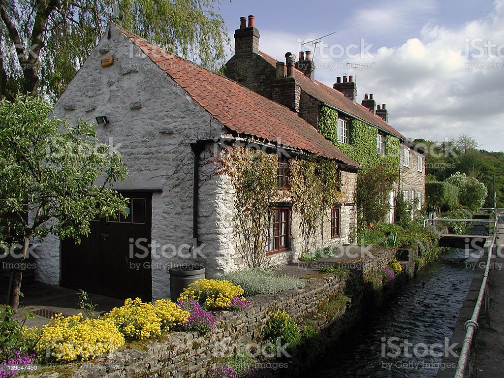 Thornton Dale Houses royalty-free stock photo