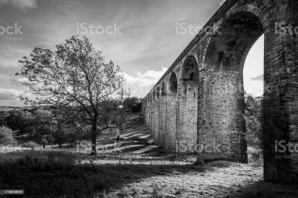 Thornton viaduct in Bradford royalty-free stock photo