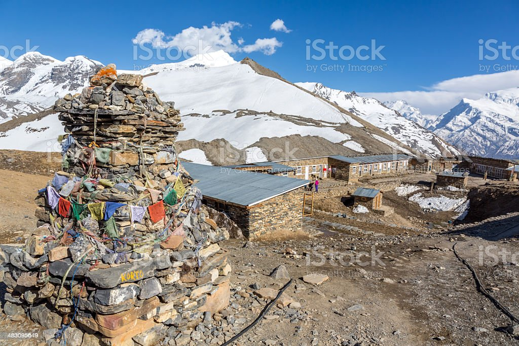 Thorong High Camp, Annapurna Circuit Trek, Nepal royalty-free stock photo